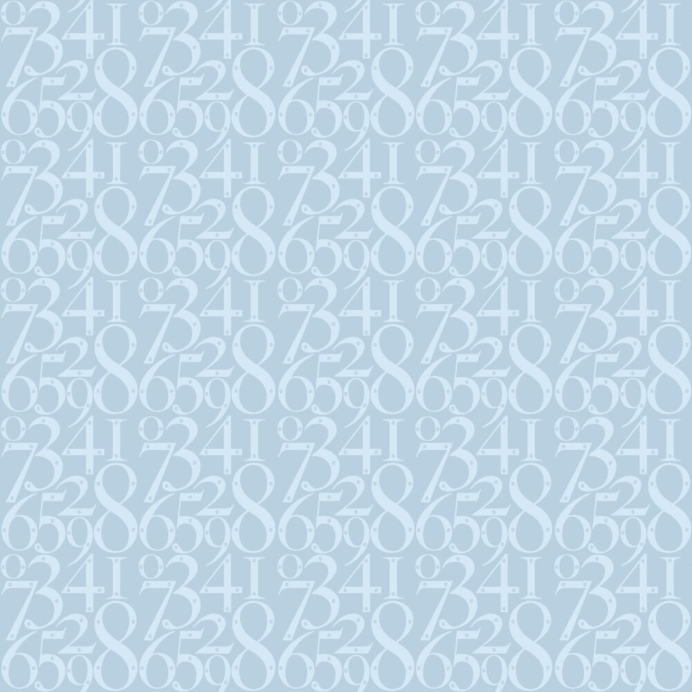 Knock Knock  Wallpaper - Powder Blue - by Mini Moderns