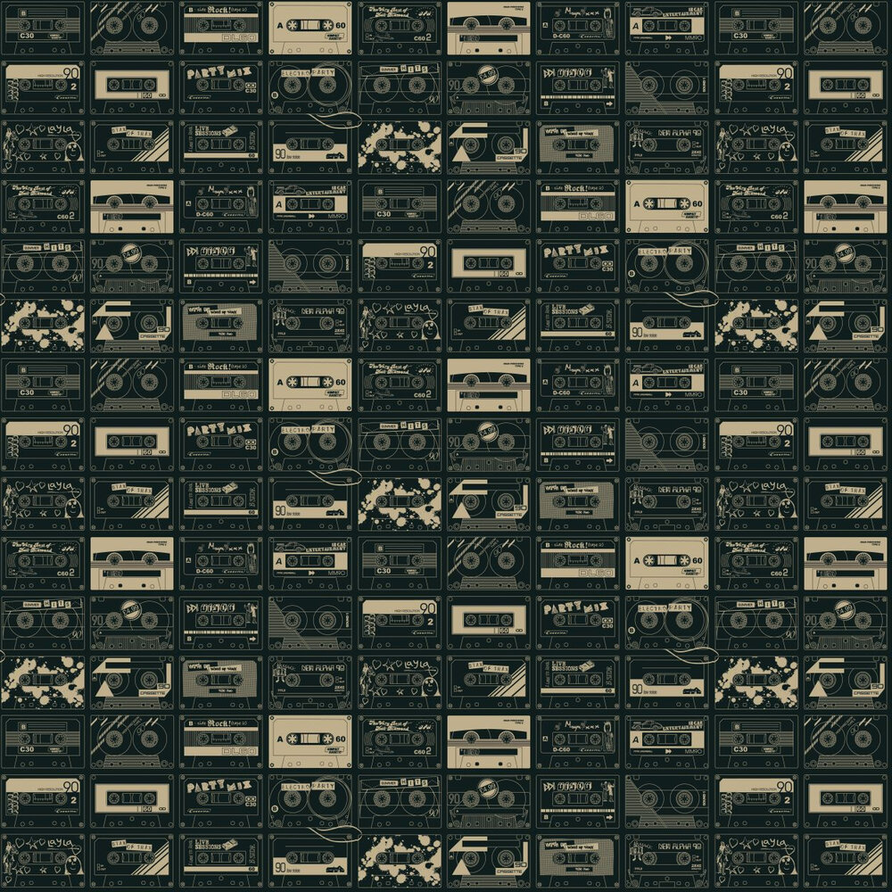 C60  Wallpaper - Chalkboard/ Gold - by Mini Moderns