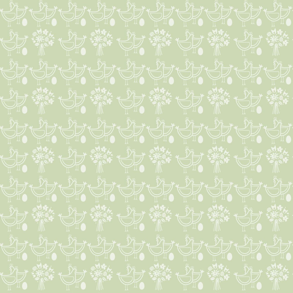 Six of One Pear  Wallpaper - Green - by Mini Moderns
