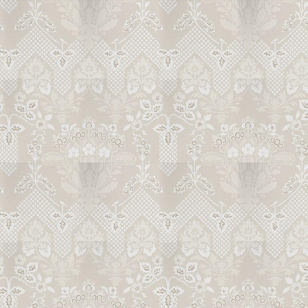 G P & J Baker Drummond Damask Stone / Grey Wallpaper - Product code: BW45064/2
