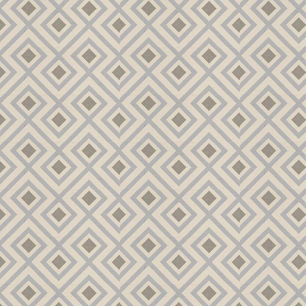 La Fiorentina Wallpaper - Metallic Platinum / Taupe - by G P & J Baker
