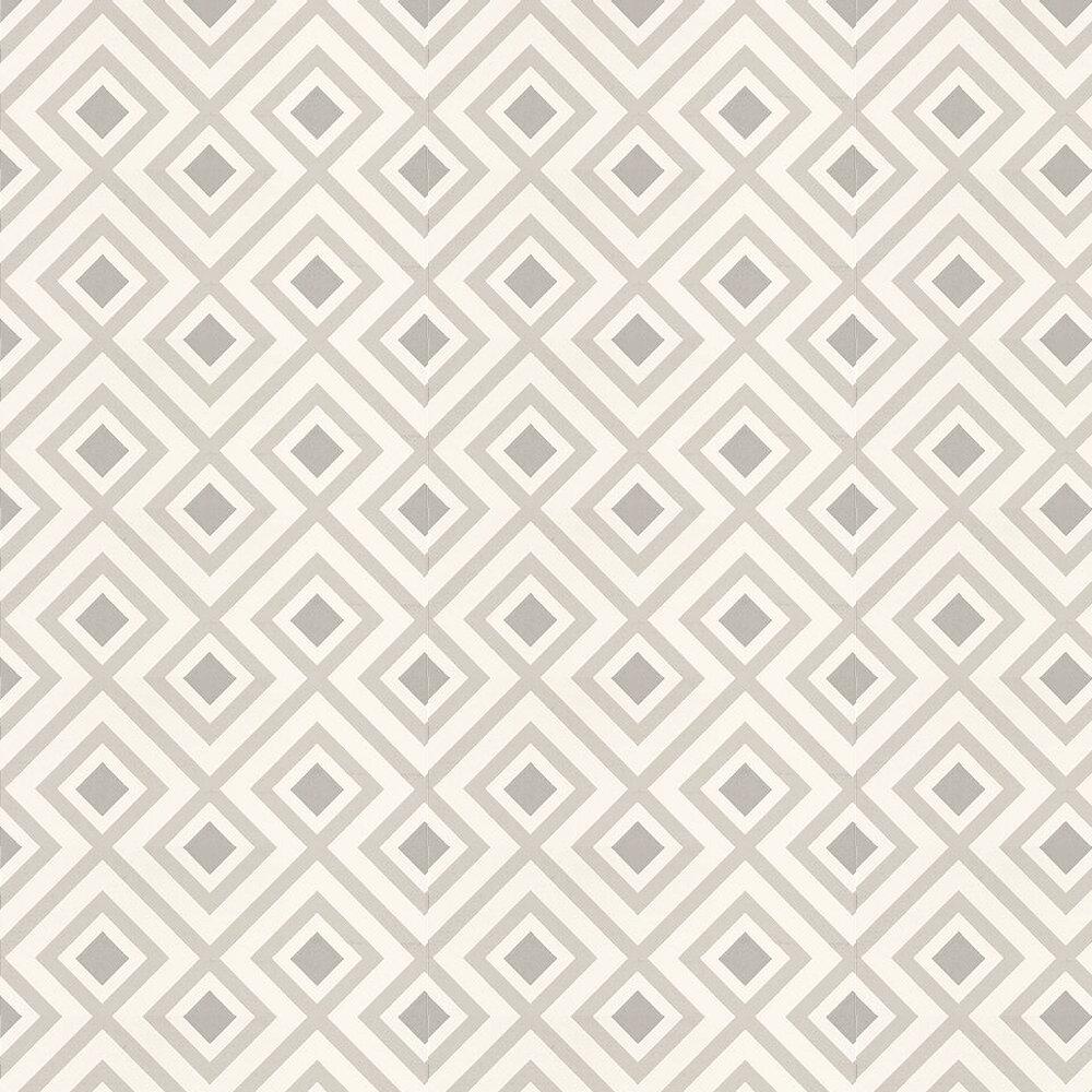 La Fiorentina Wallpaper - Dove Grey / Off White - by G P & J Baker