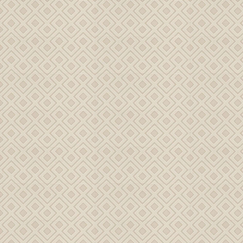 La Fiorentina Small Wallpaper - Stone / Metallic Silver - by G P & J Baker