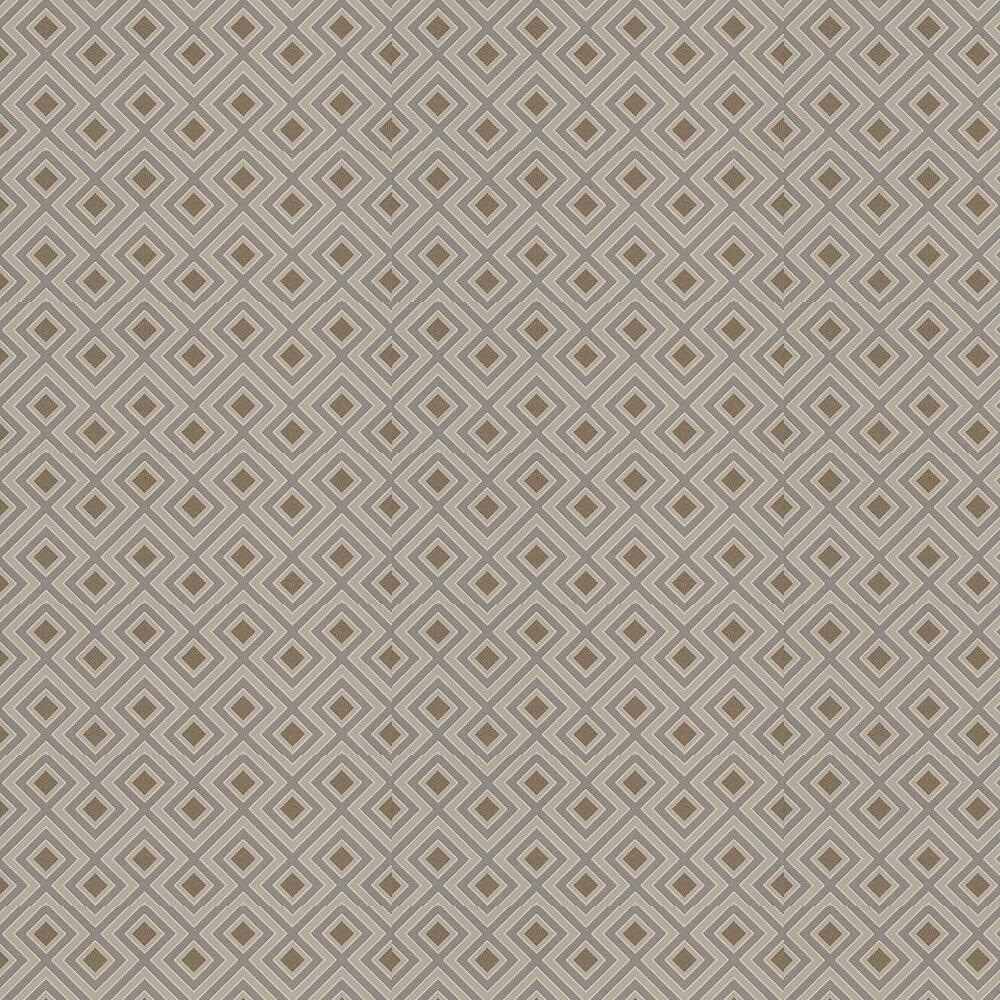 La Fiorentina Small Wallpaper - Metallic Bronze / Slate - by G P & J Baker