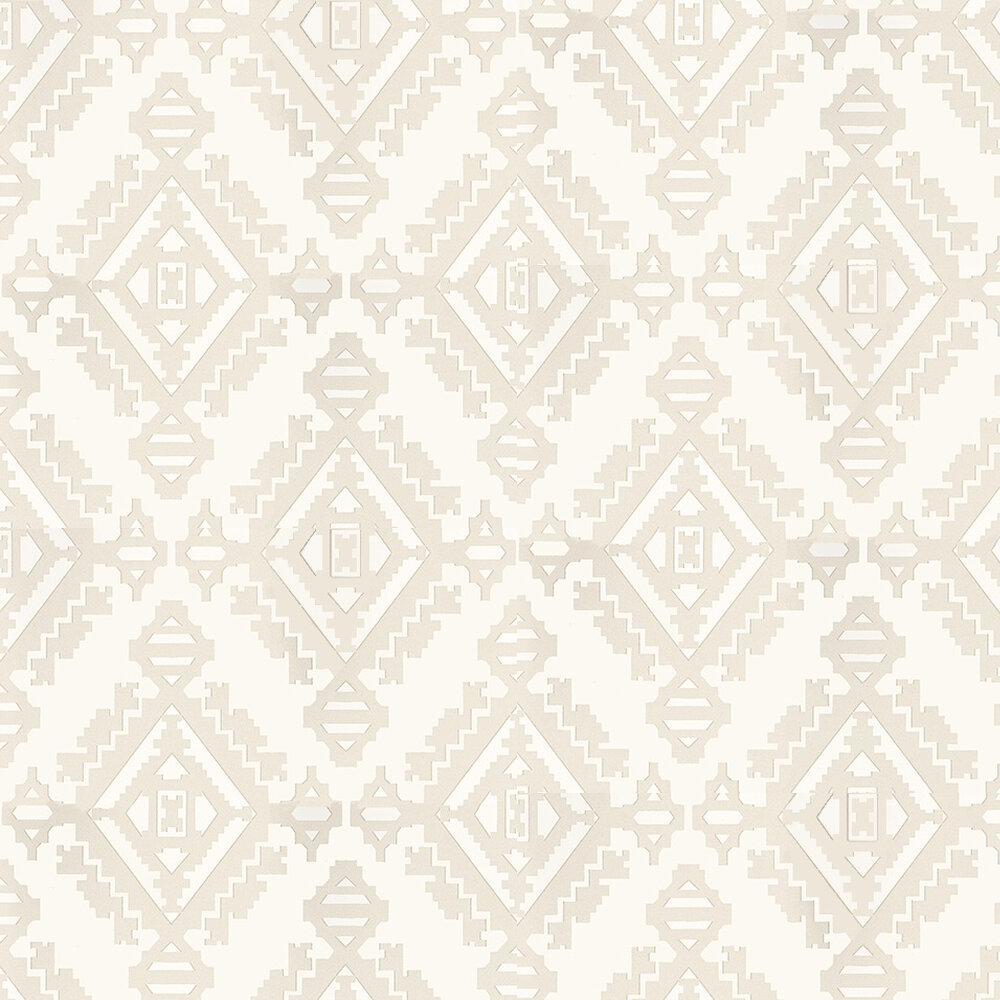 G P & J Baker Navajo Stone / White Wallpaper - Product code: BW45060/3