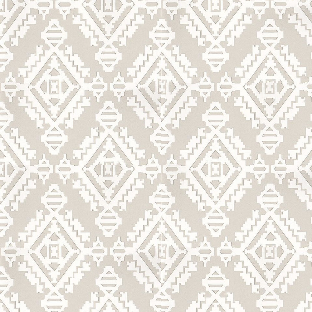 G P & J Baker Navajo Dove Grey / White Wallpaper - Product code: BW45060/2