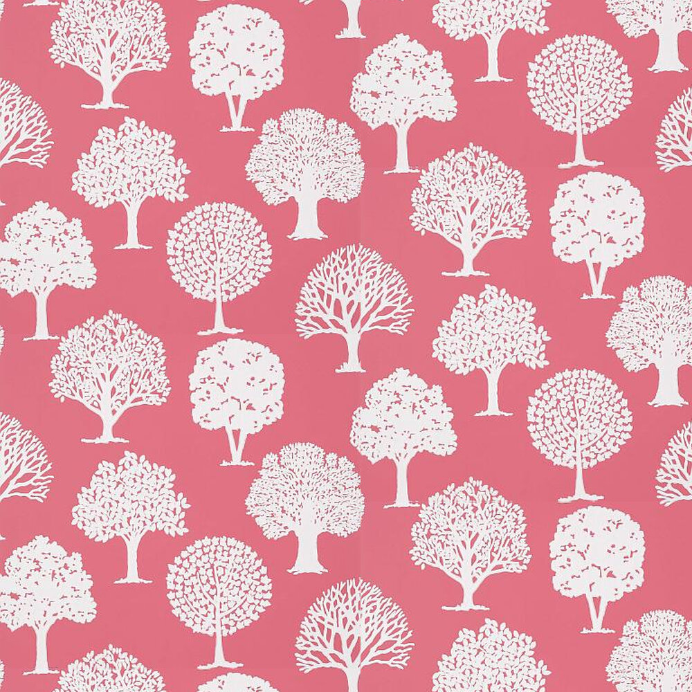 Russell Square Raspberry By Thibaut Pink Wallpaper Wallpaper