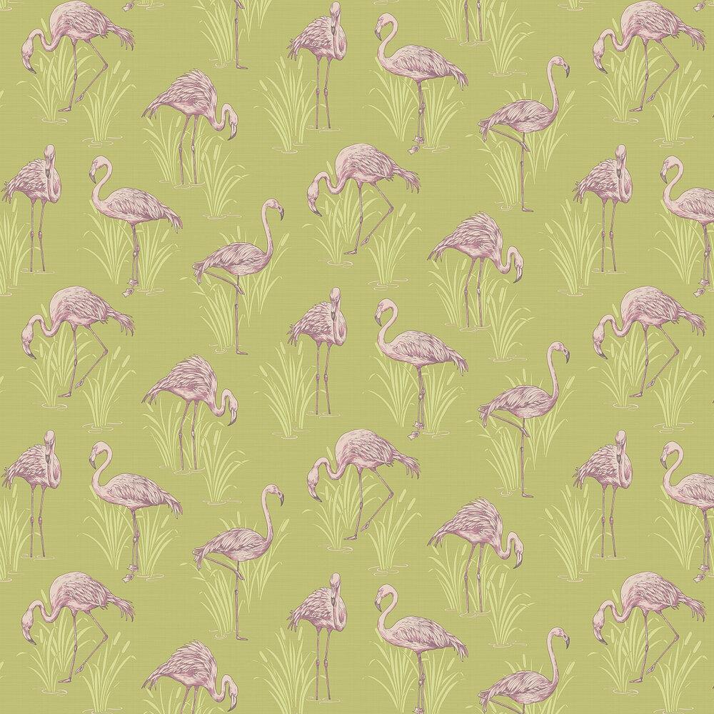 Arthouse Lagoon  Green/Pink Wallpaper - Product code: 252602
