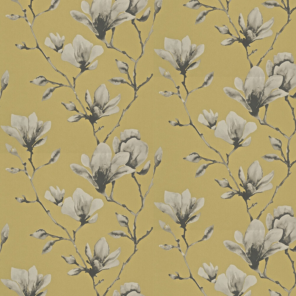Lotus By Harlequin Mustard Wallpaper Wallpaper Direct