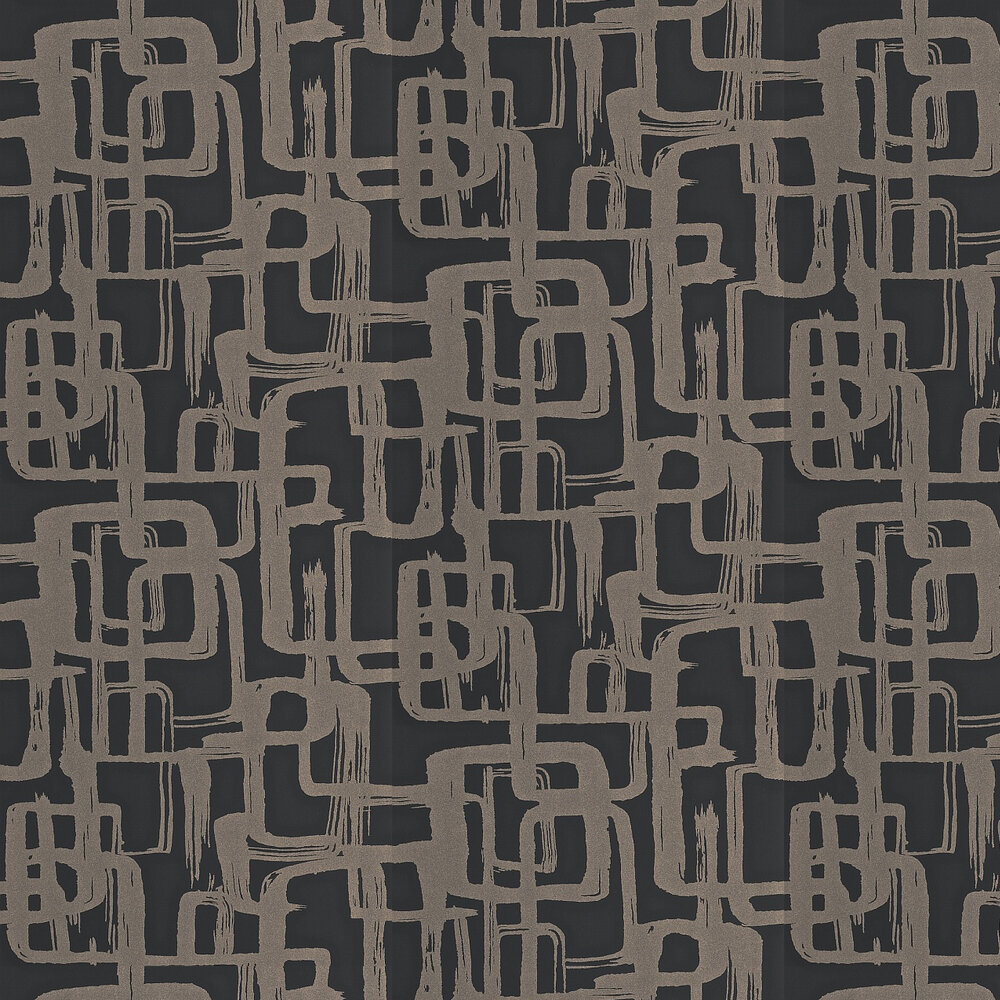 Harlequin Asuka Gold/Onyx Wallpaper - Product code: 110906