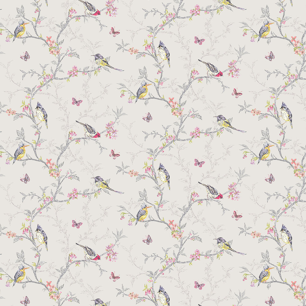 Albany Phoebe  Grey Wallpaper - Product code: 98081