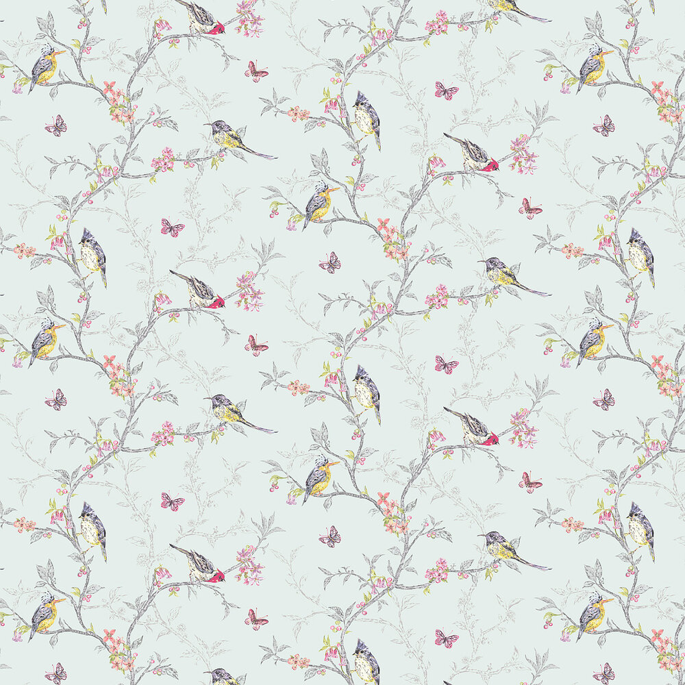 Albany Phoebe  Duck Egg Wallpaper - Product code: 98083