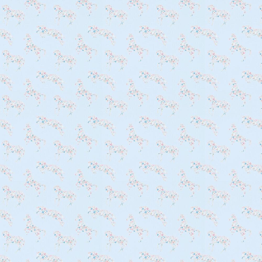 Sanderson Pretty Ponies  Chintz/Blue Wallpaper - Product code: 214035