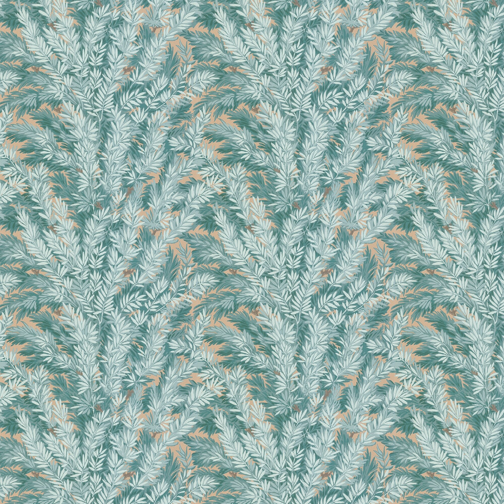 Florencecourt  Wallpaper - Teal - by Cole & Son