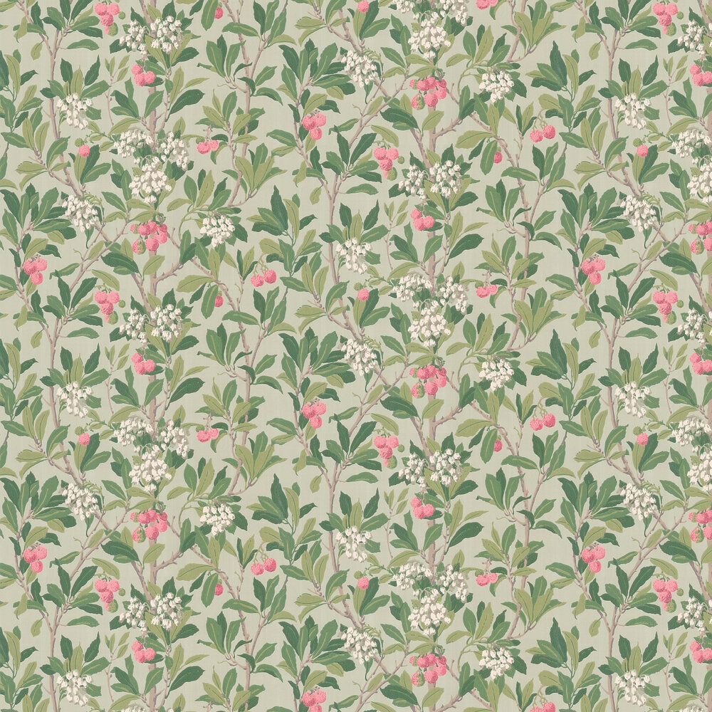 Strawberry Tree  Wallpaper - Pink & Duck Egg - by Cole & Son