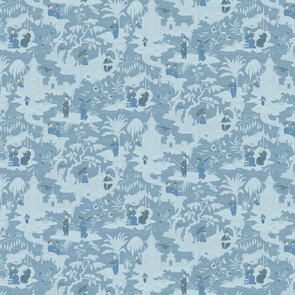 Cole & Son Chinese Toile  Blue Wallpaper - Product code: 100/8038