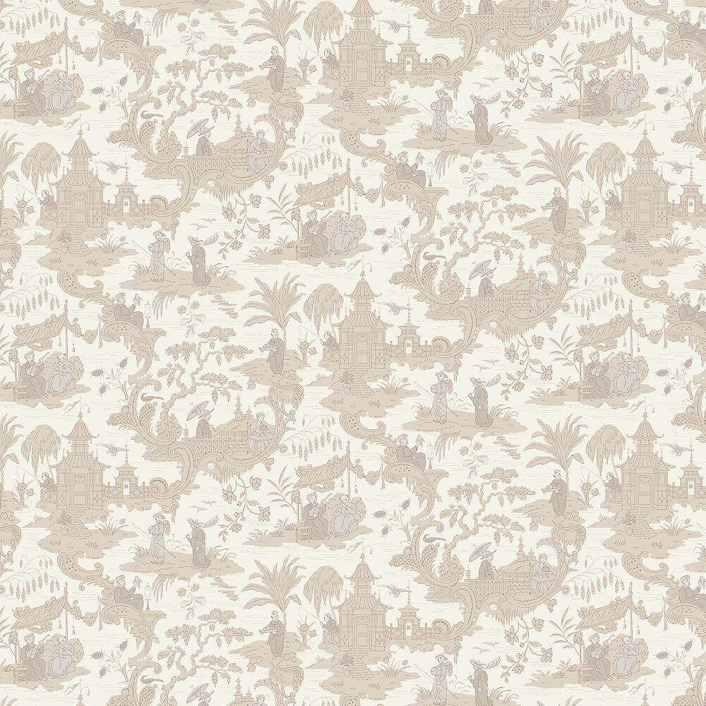 Chinese Toile  Wallpaper - Neutral - by Cole & Son