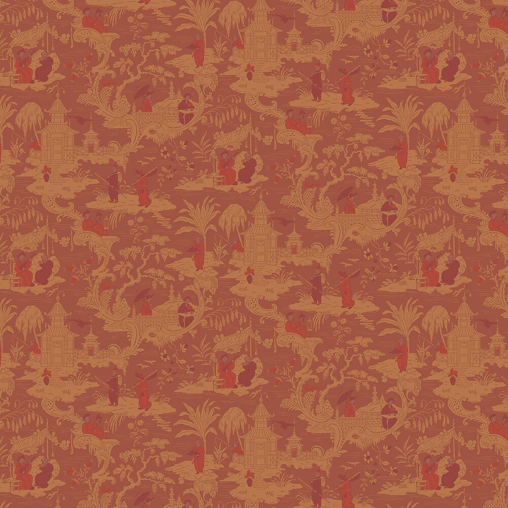 Cole & Son Chinese Toile  Red Wallpaper - Product code: 100/8041