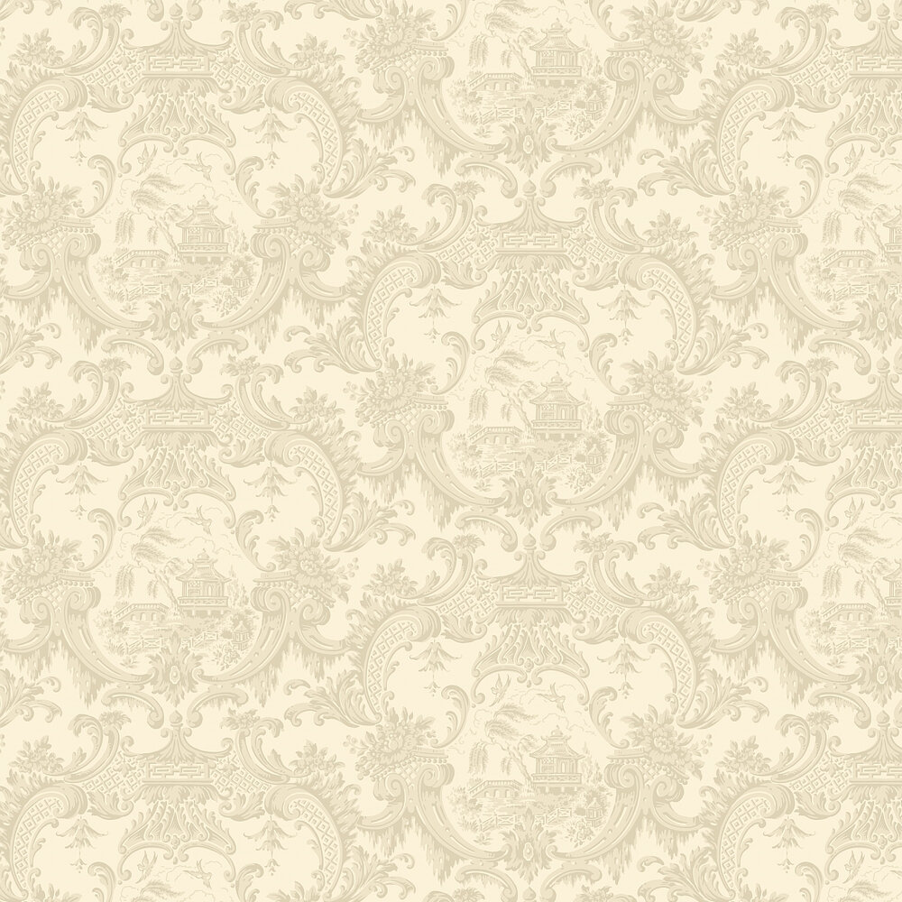 Chippendale China Wallpaper - Stone - by Cole & Son