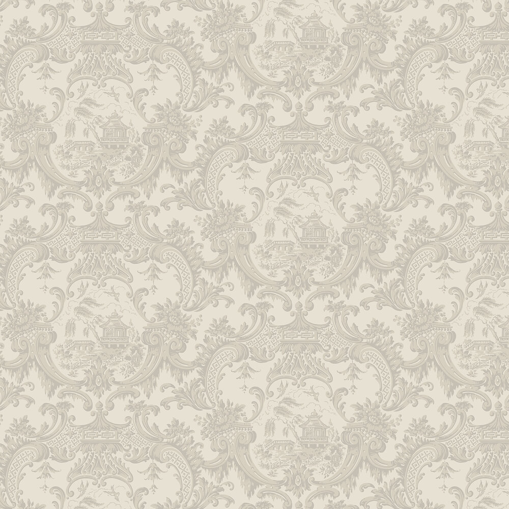 Chippendale China Wallpaper - Linen - by Cole & Son