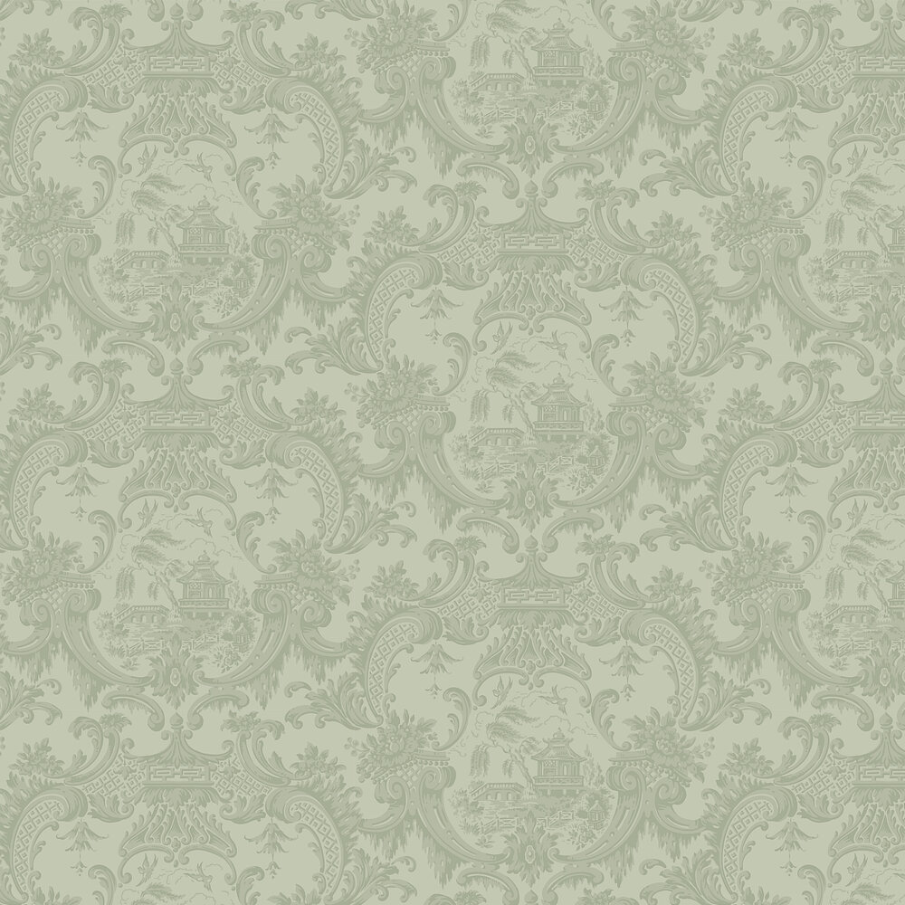 Chippendale China  Wallpaper - Olive - by Cole & Son