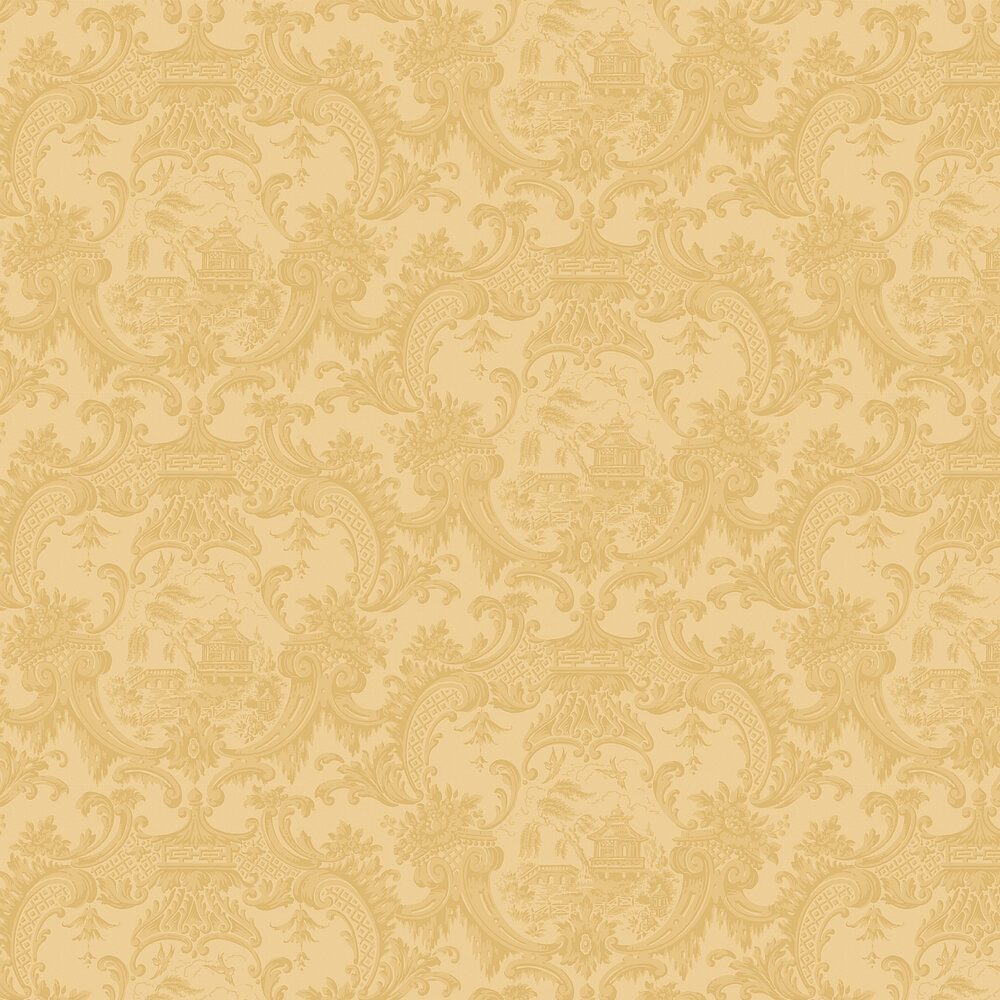 Chippendale China  Wallpaper - Yellow - by Cole & Son