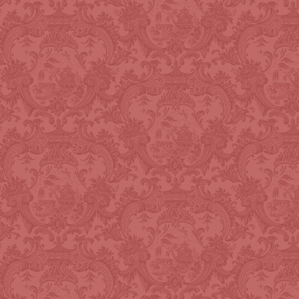 Chippendale China  Wallpaper - Red - by Cole & Son