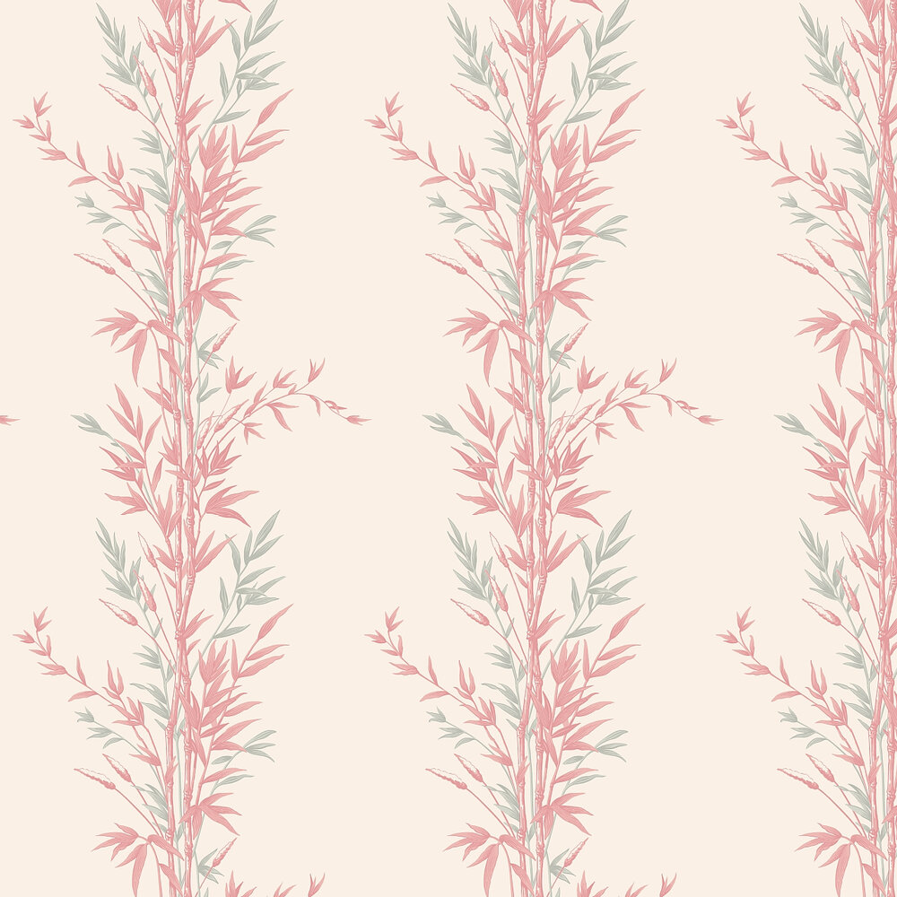 Bamboo  Wallpaper - Pink - by Cole & Son