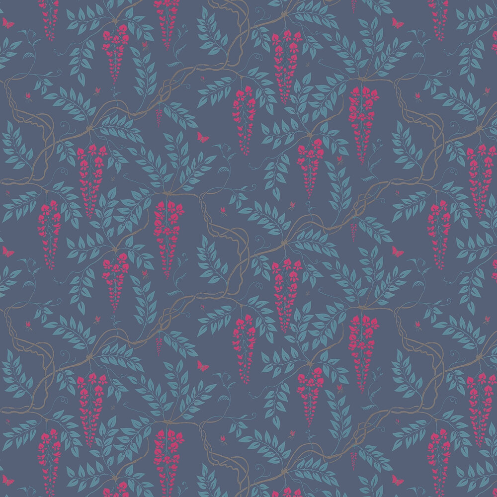 Egerton  Wallpaper - Indigo - by Cole & Son