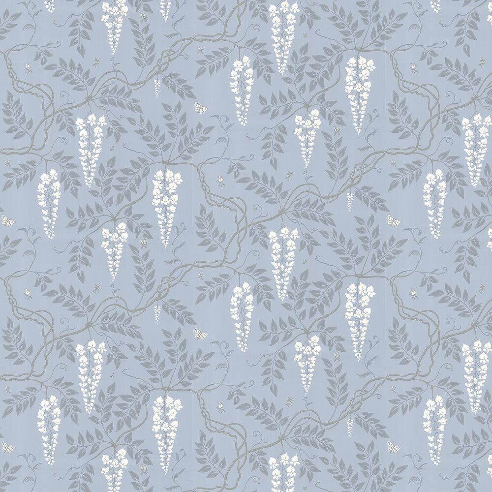Egerton  Wallpaper - Blue - by Cole & Son