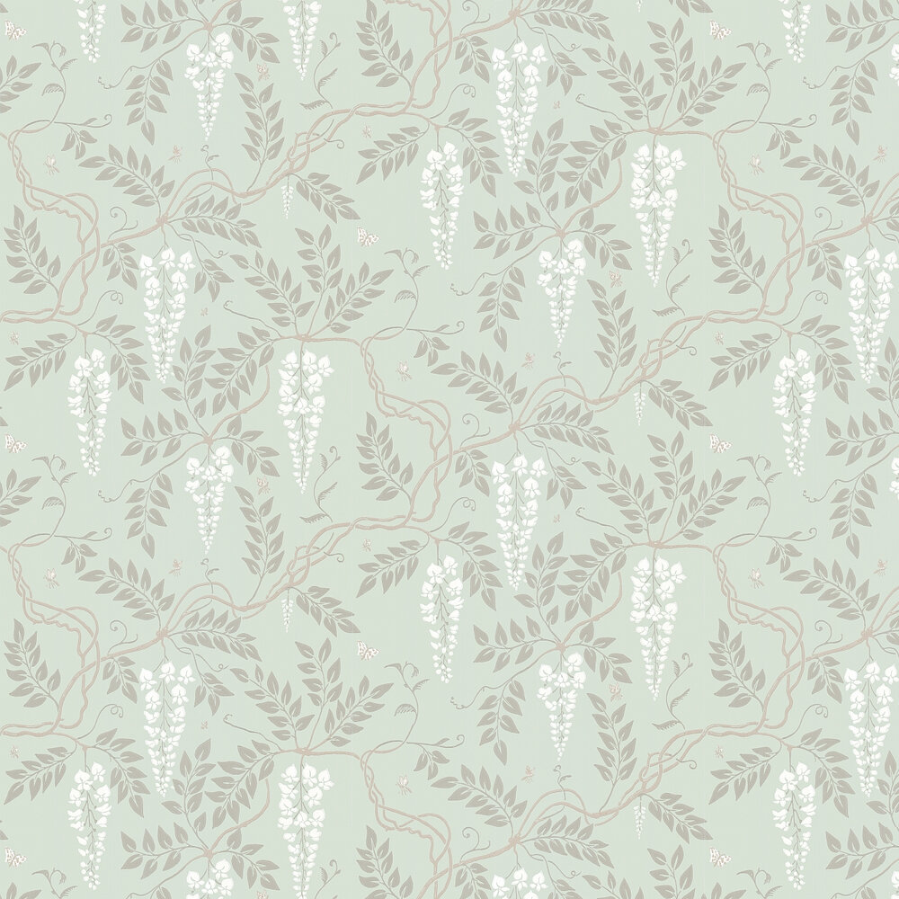 Egerton  Wallpaper - Duck Egg - by Cole & Son