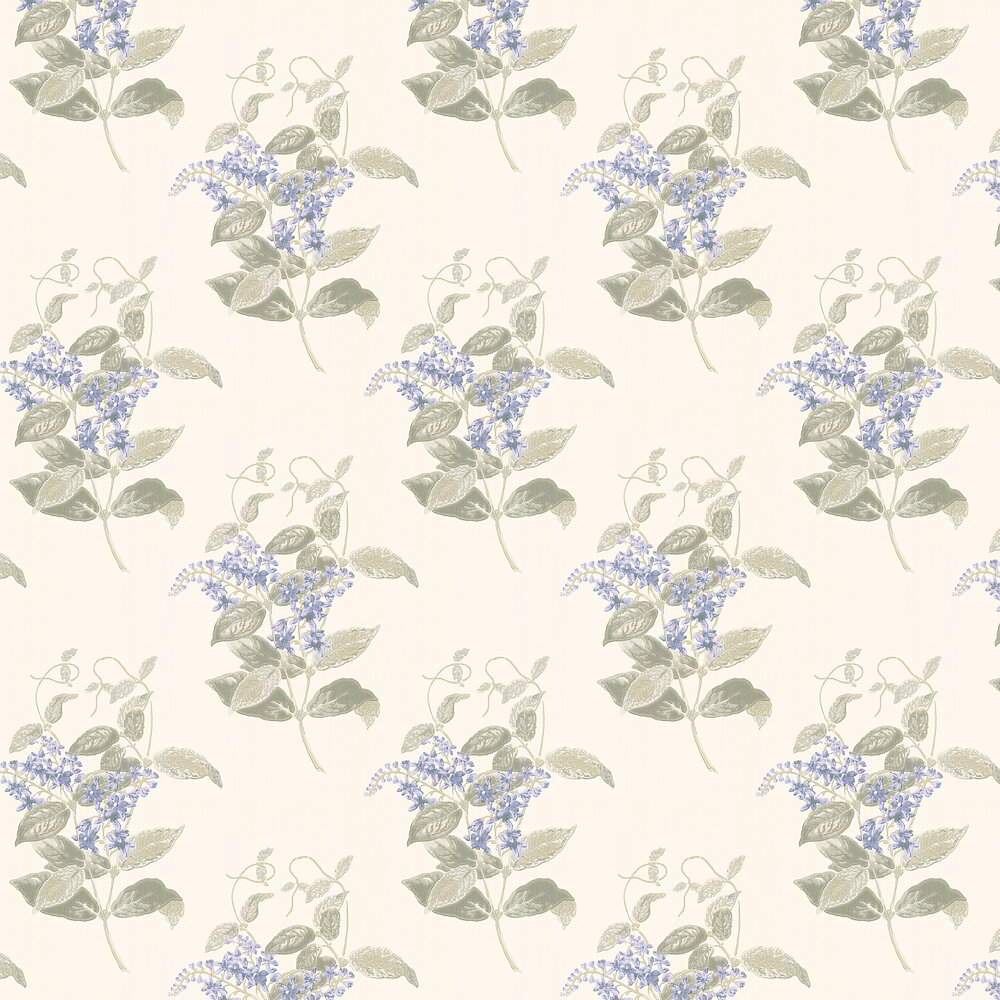 Madras Violet  Wallpaper - Violet and Grey - by Cole & Son