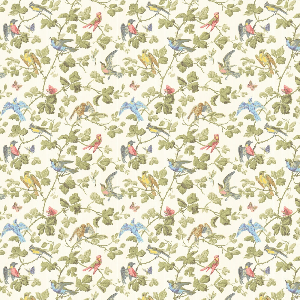 Winter Birds  Wallpaper - Multi - by Cole & Son