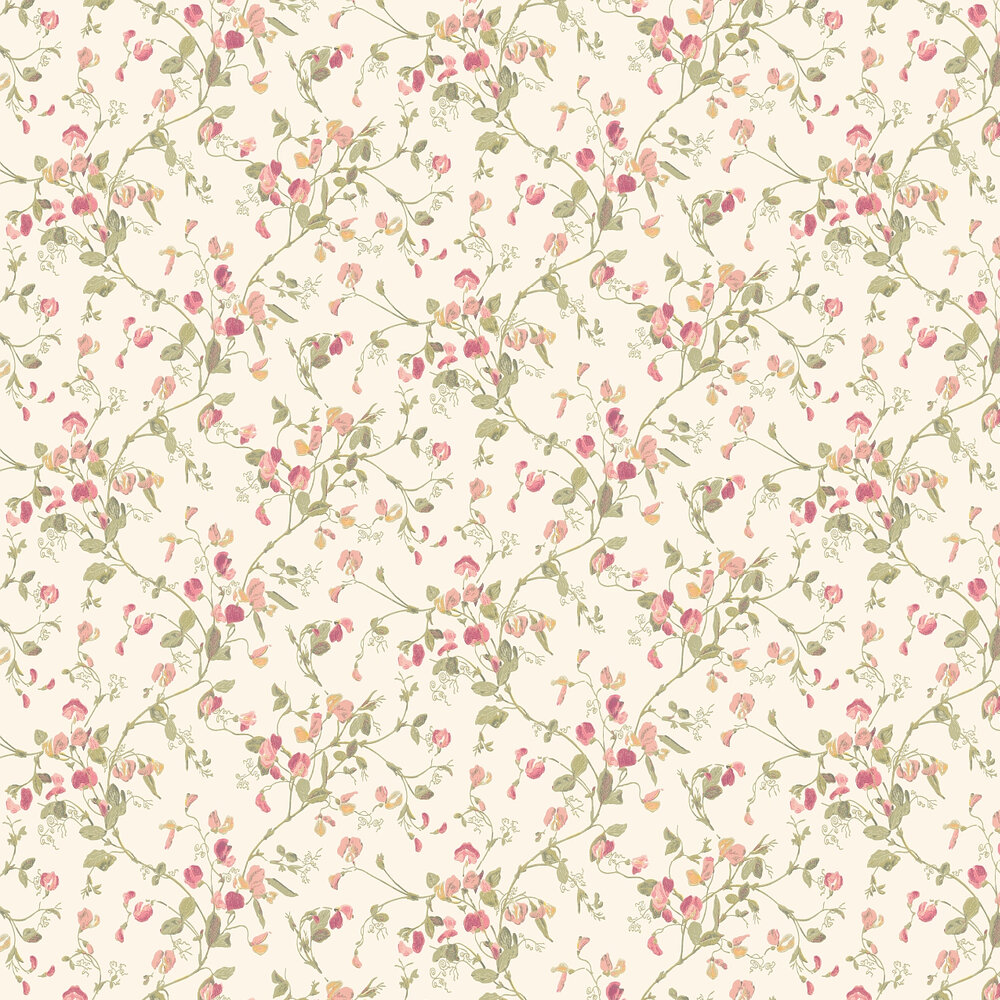 Sweet Pea  Wallpaper - Pink - by Cole & Son