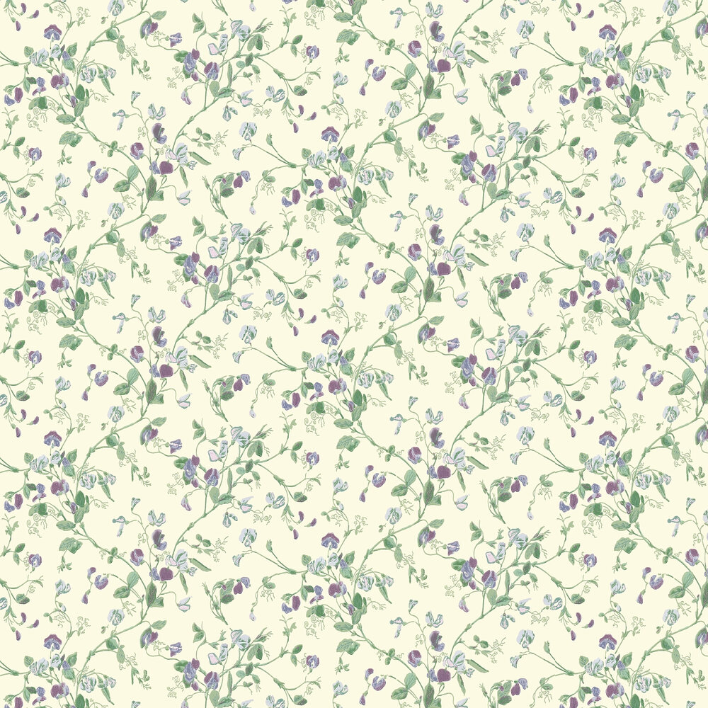 Sweet Pea  Wallpaper - Violet - by Cole & Son