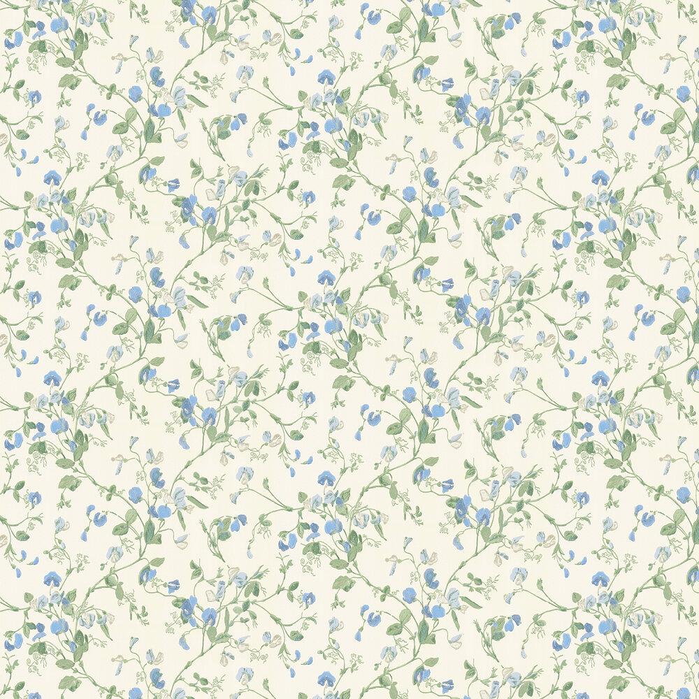 Sweet Pea  Wallpaper - Blue - by Cole & Son