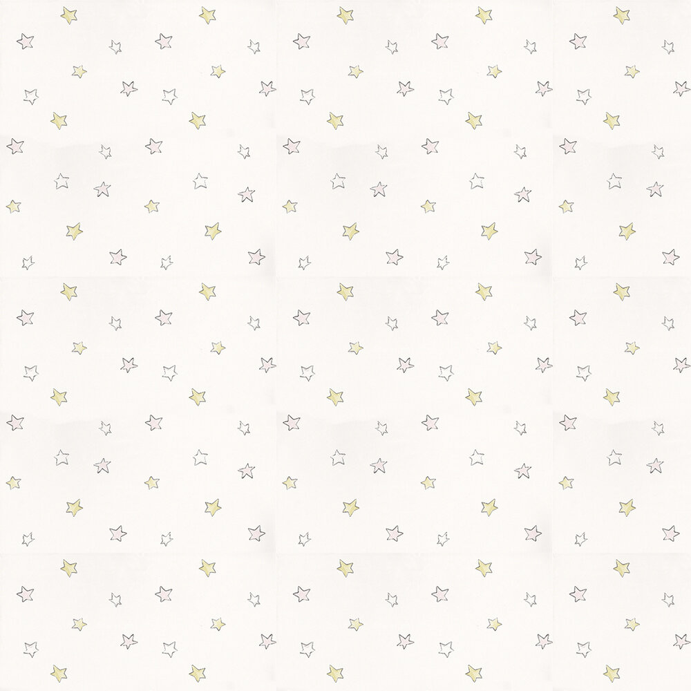 Odissey Pink Wallpaper - Soft Pink / Green / Off White - by Coordonne