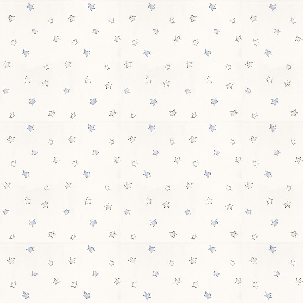 Coordonne Odissey Sky Blue / Cream / White Wallpaper - Product code: 3400042