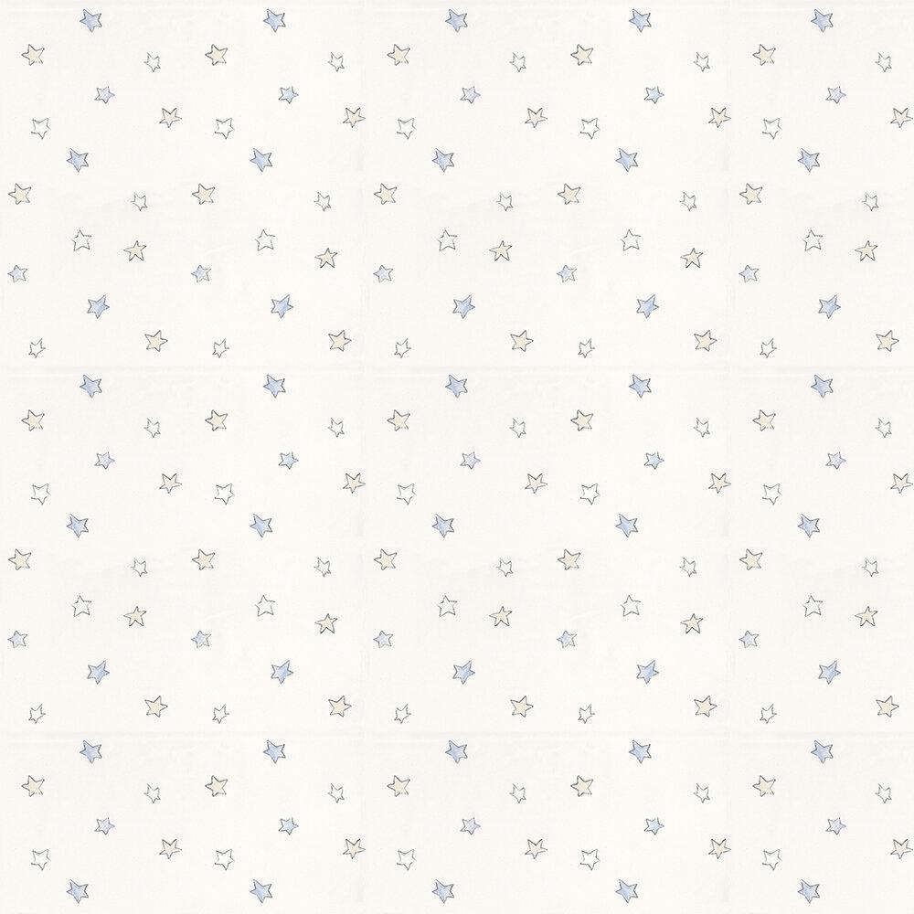 Odissey Sky Wallpaper - Blue / Cream / White - by Coordonne