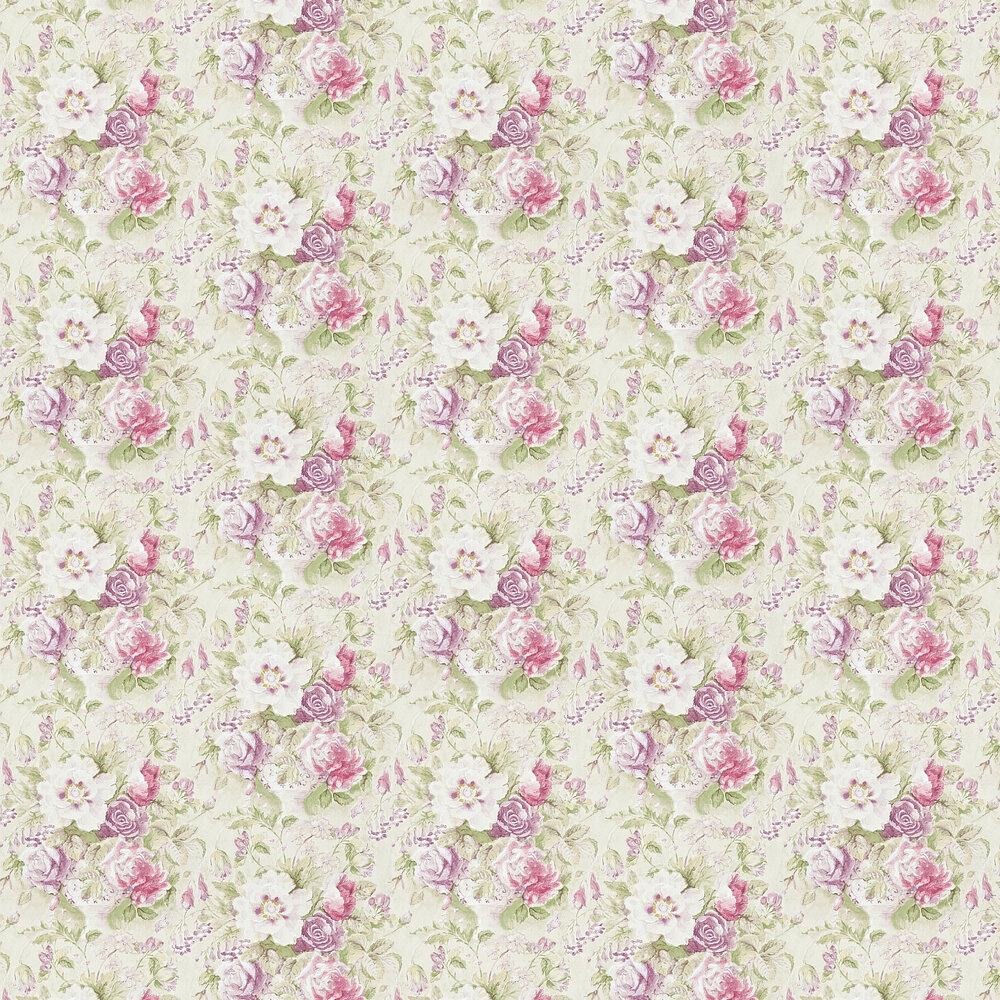 Sanderson Giselle  Bordeaux / Olive Wallpaper - Product code: 214090