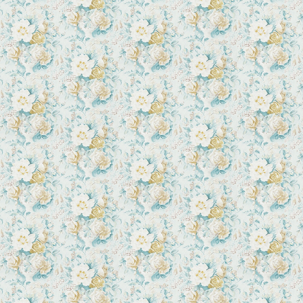 Sanderson Giselle  Gold / Jade Wallpaper - Product code: 214091