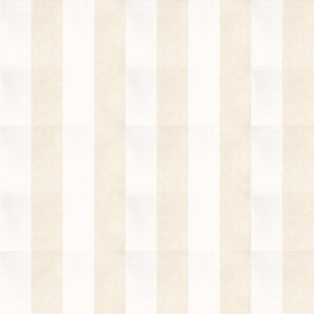 Aquarela Stripe Beige Wallpaper - Beige / White - by Coordonne