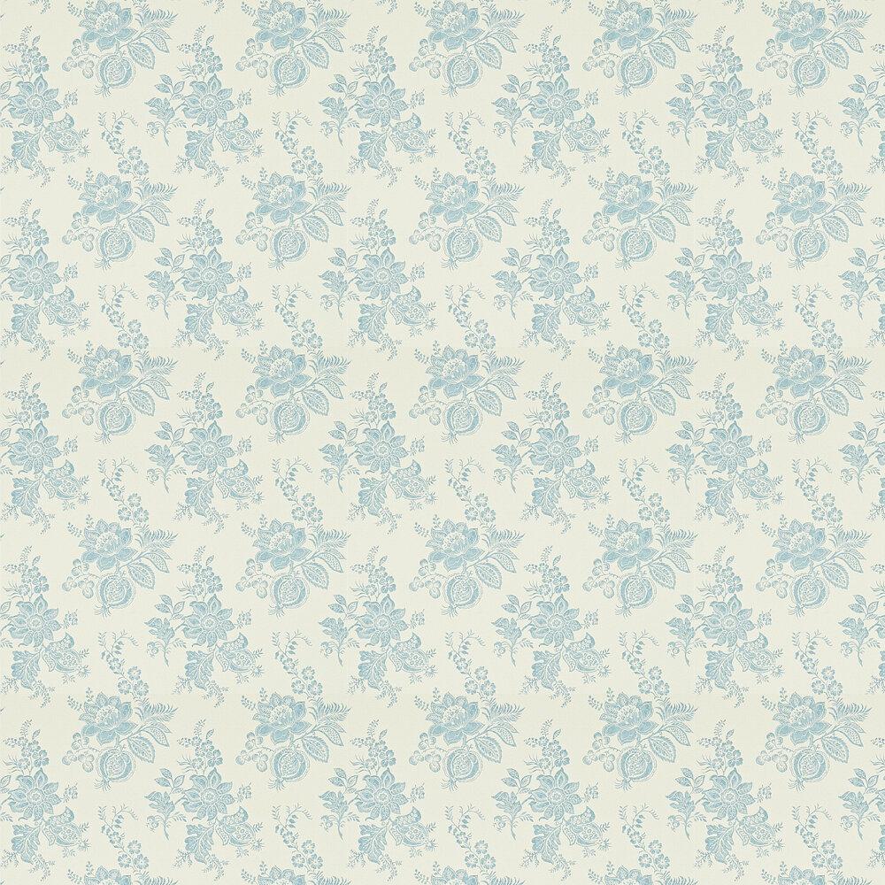 Sanderson Lyon  Cream / Wedgwood Wallpaper - Product code: 214095