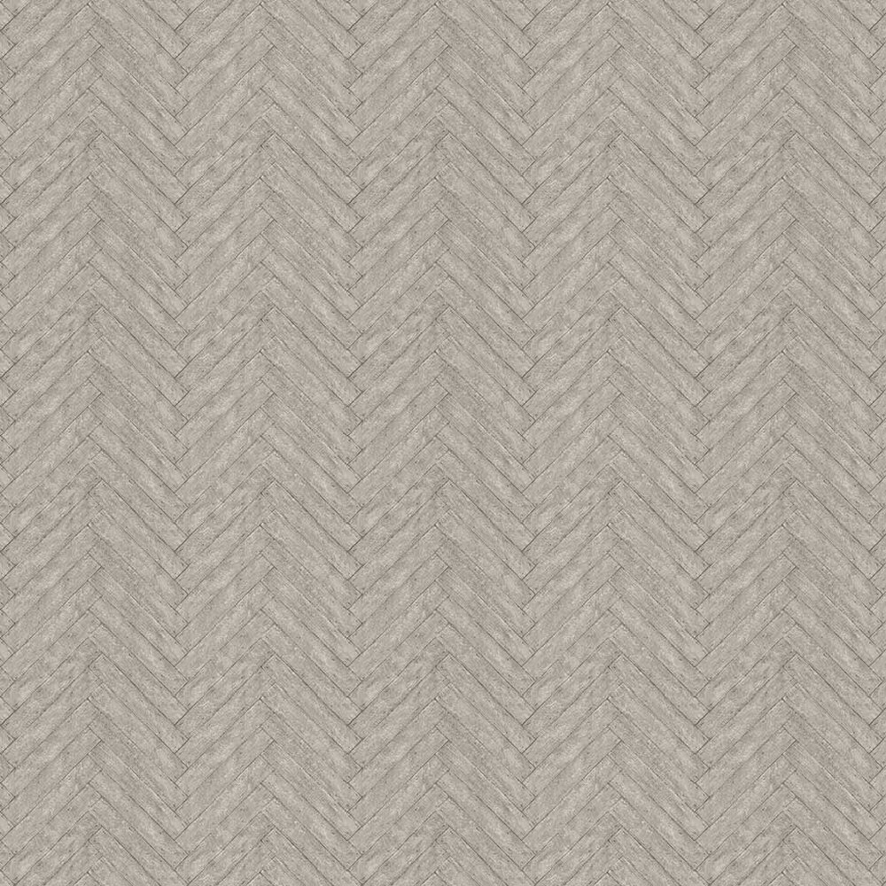 Parquet Charcoal Wallpaper - by Andrew Martin
