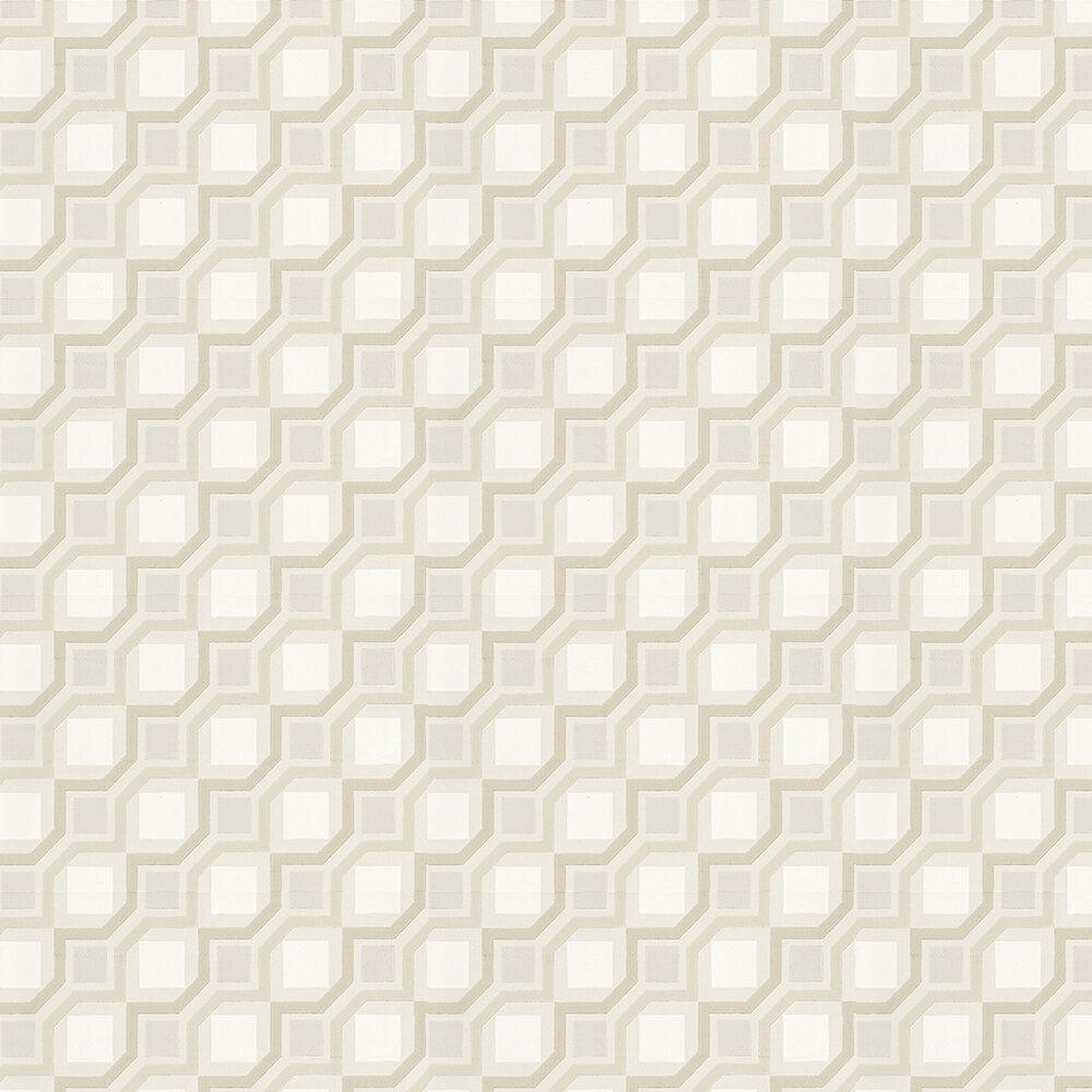 Cubix  Wallpaper - Chalk - by Prestigious