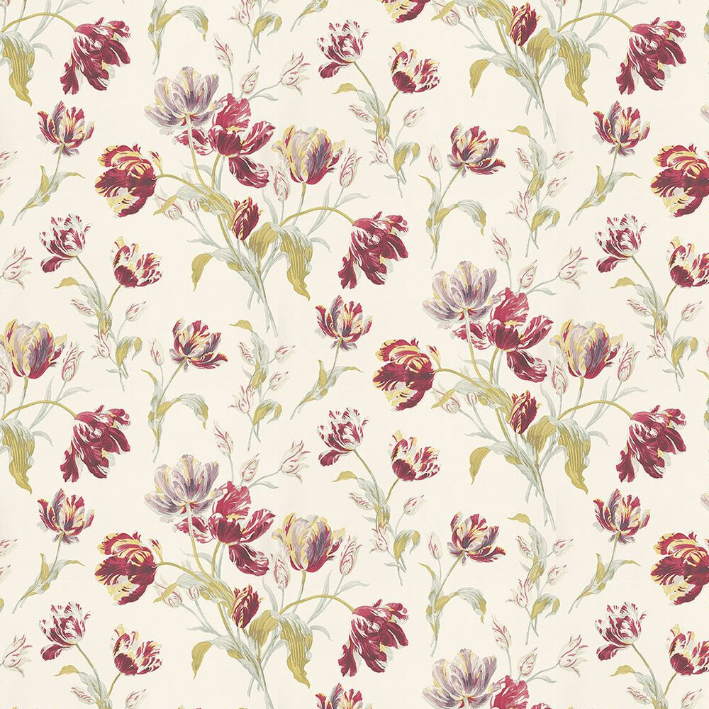 Laura Ashley Gosford Meadow  Cranberry Wallpaper - Product code: 3534844