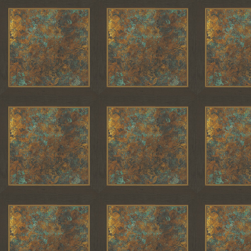 Kandola Maltern Verdigris Copper / Green Wallpaper - Product code: DW1588/01