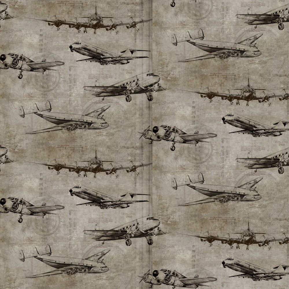 Sidney Paul & Co Flight Taupe Wallpaper - Product code: SPW0014-01