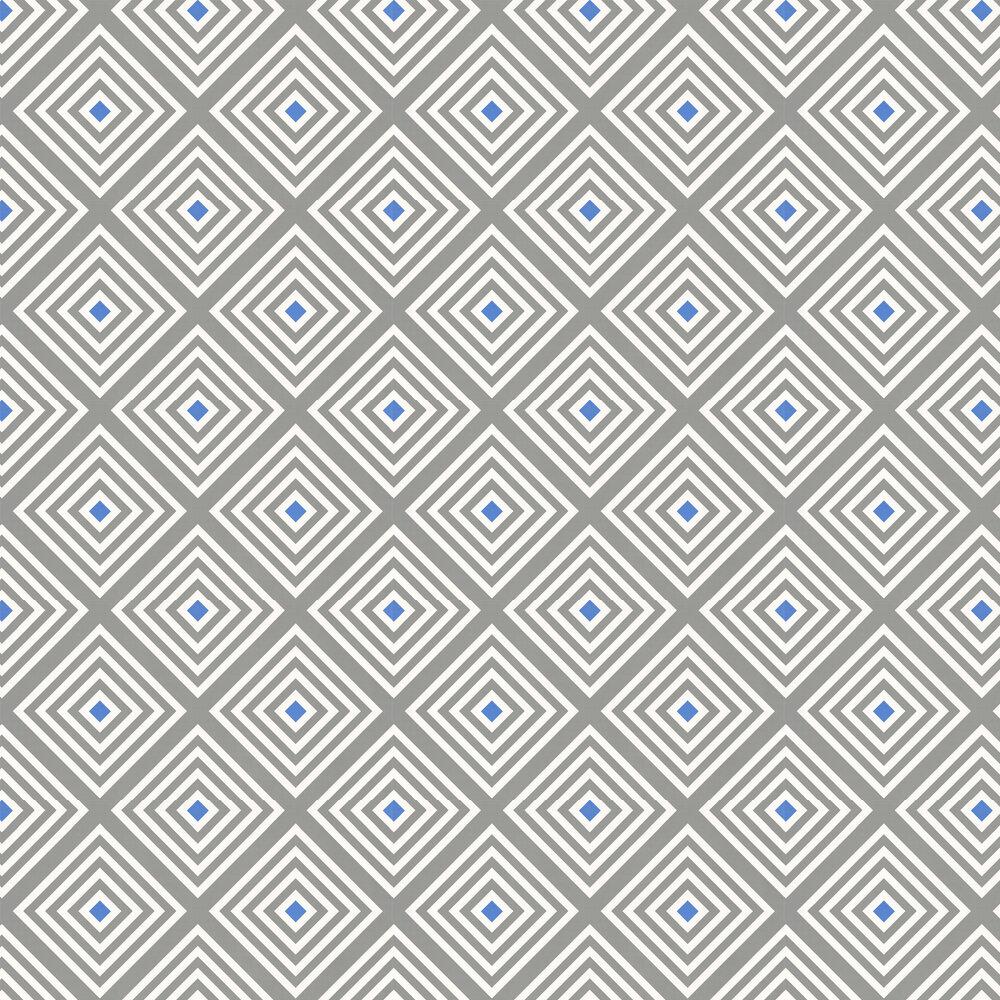 Diamond Wallpaper - Slate Teal Blue - by Layla Faye