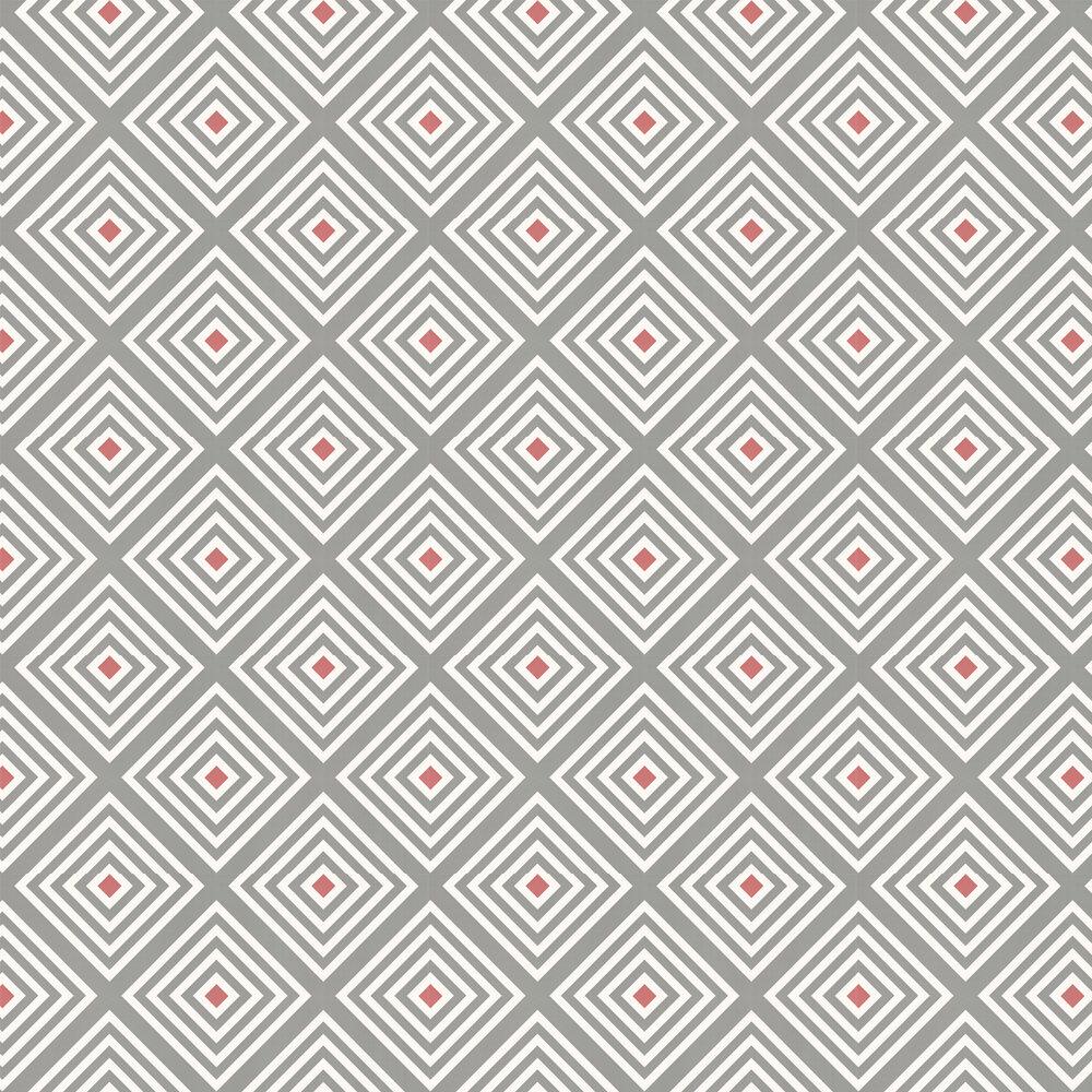 Diamond Wallpaper - Slate Red - by Layla Faye